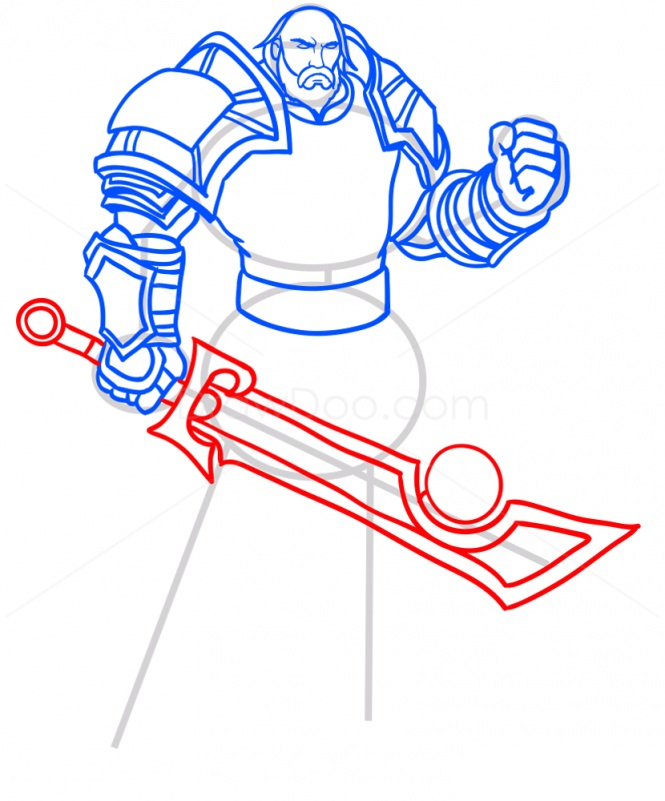 Как нарисовать паладина Лотара