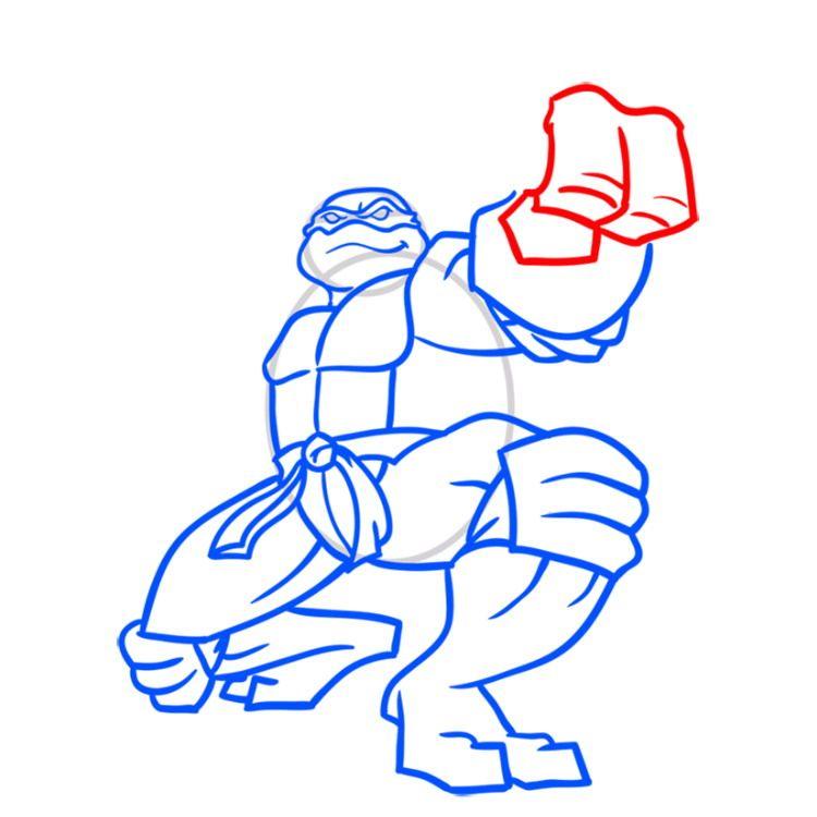 Как нарисовать черепашку Микеланджело