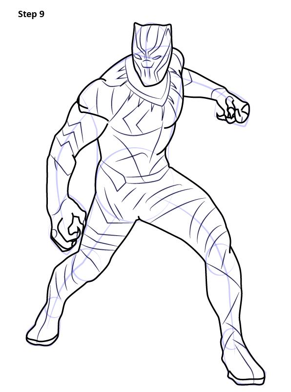 Как нарисовать Черную пантеру из комиксов