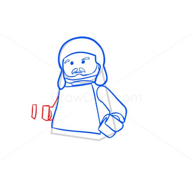 как нарисовать Квай-Гона Джинна