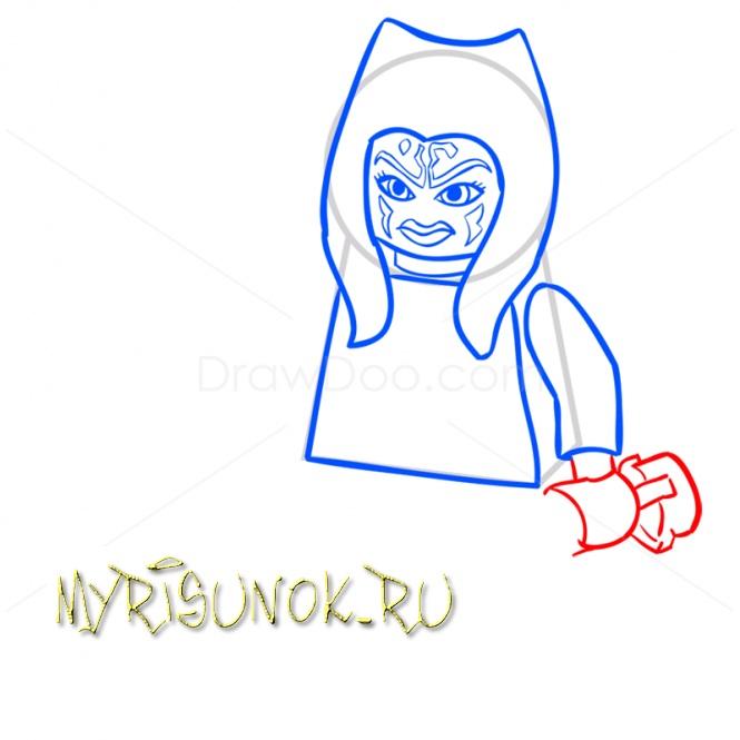 Рисуем Асоку Тано