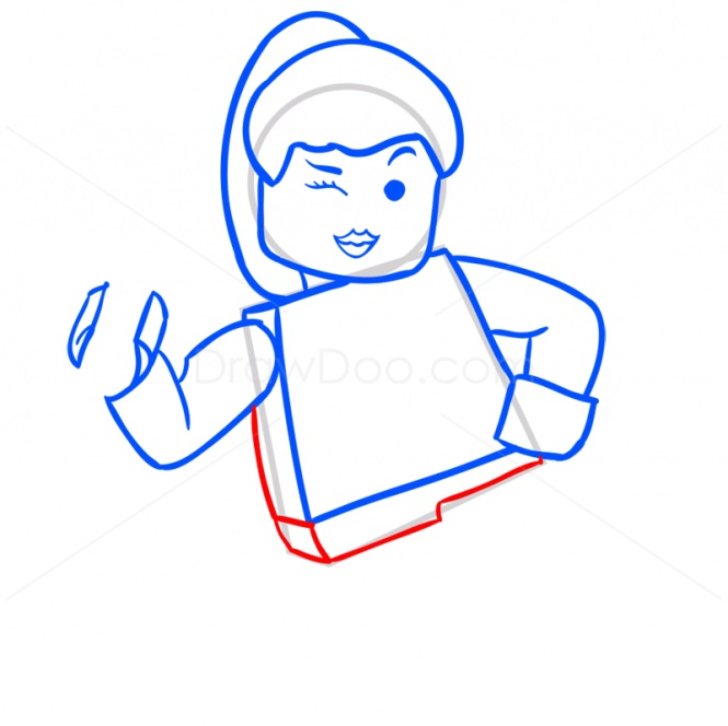 Рисуем Лею Органу в стиле лего