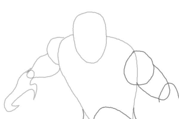Как нарисовать Черную пантеру 3