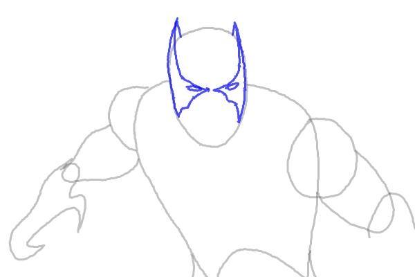 Как нарисовать Черную пантеру 4