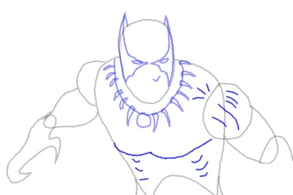 Как нарисовать Черную пантеру 6