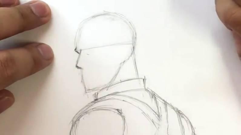 Как нарисовать Капитана Америку из Войны Бесконечности 10