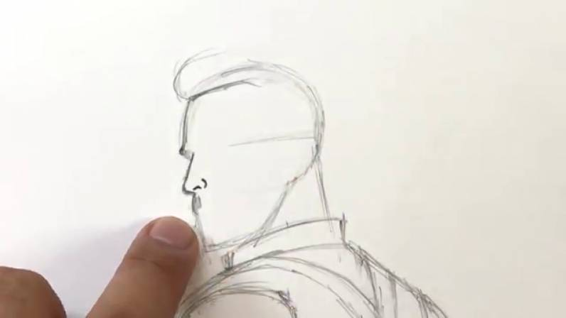 Как нарисовать Капитана Америку из Войны Бесконечности 11