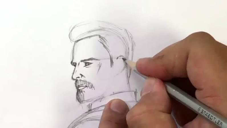 Как нарисовать Капитана Америку из Войны Бесконечности 15