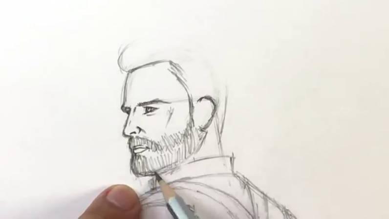 Как нарисовать Капитана Америку из Войны Бесконечности 16
