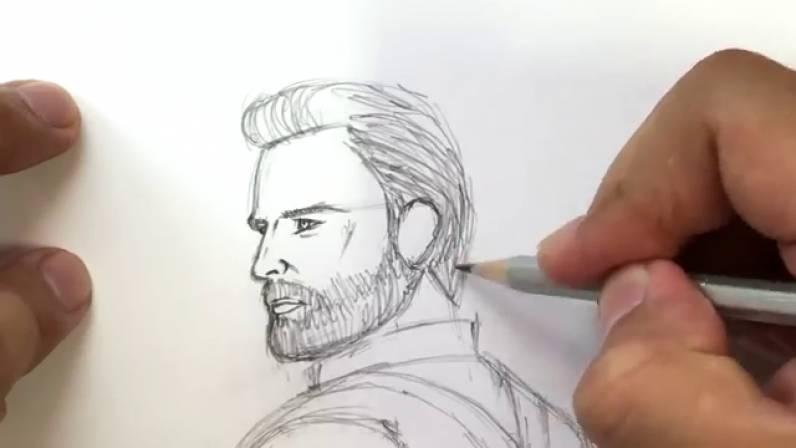 Как нарисовать Капитана Америку из Войны Бесконечности 17