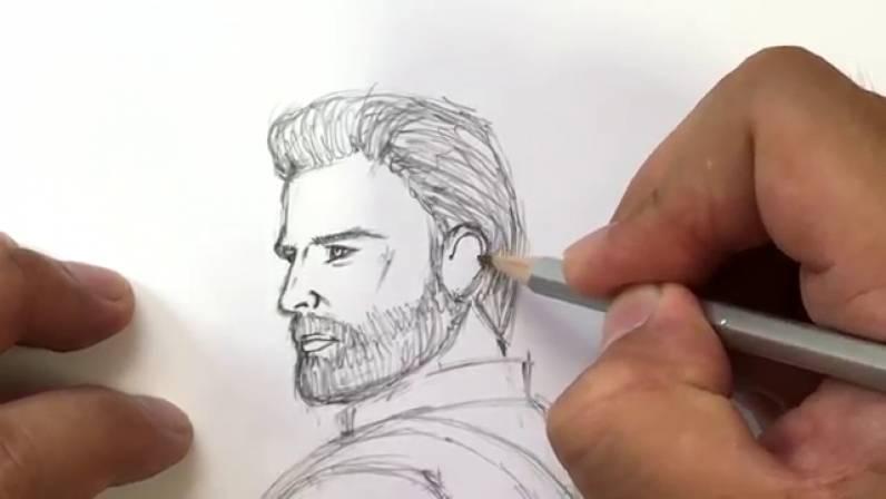 Как нарисовать Капитана Америку из Войны Бесконечности 18