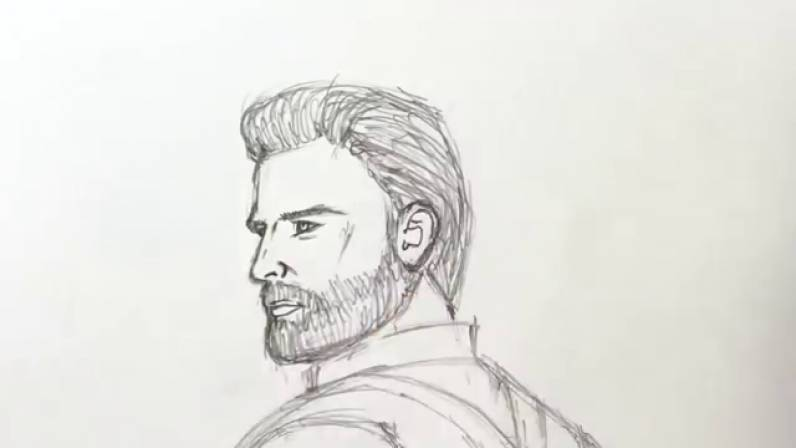 Как нарисовать Капитана Америку из Войны Бесконечности 19