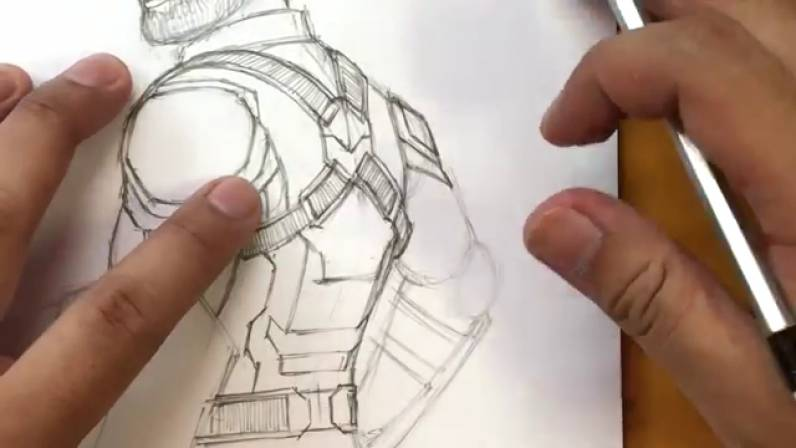 Как нарисовать Капитана Америку из Войны Бесконечности 28