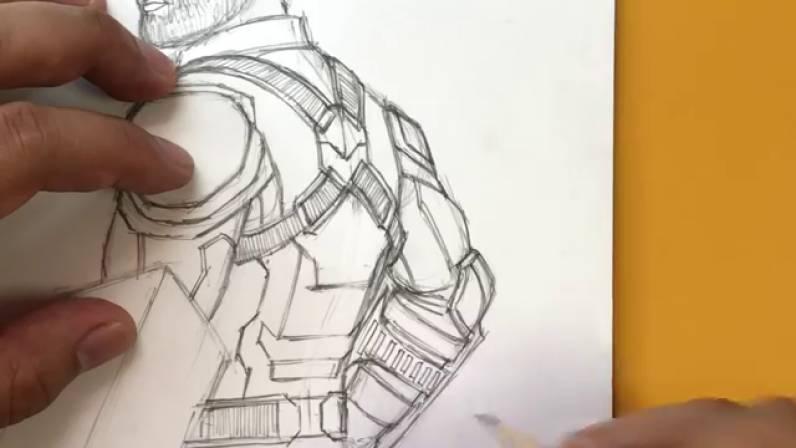 Как нарисовать Капитана Америку из Войны Бесконечности 31