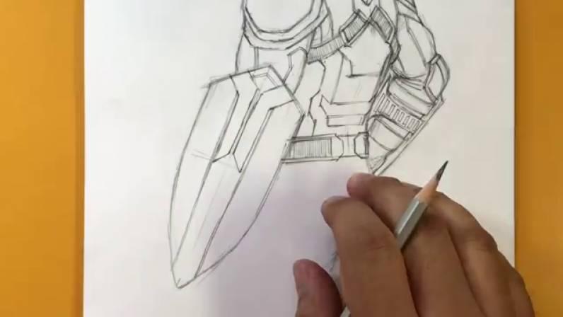 Как нарисовать Капитана Америку из Войны Бесконечности 33