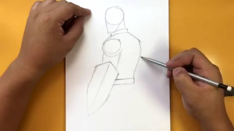 Как нарисовать Капитана Америку из Войны Бесконечности 4