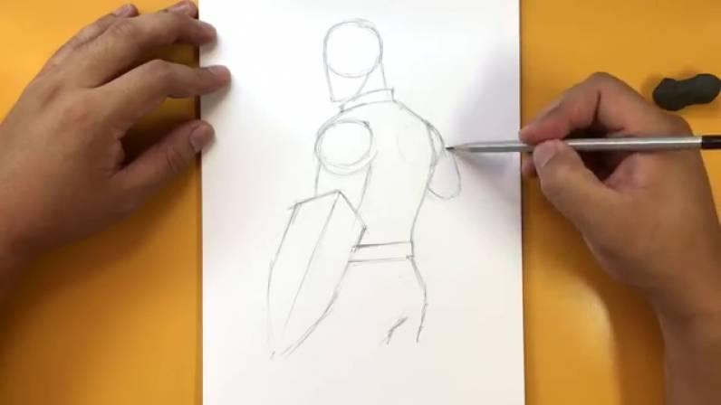 Как нарисовать Капитана Америку из Войны Бесконечности 5