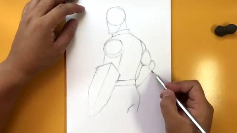 Как нарисовать Капитана Америку из Войны Бесконечности 6