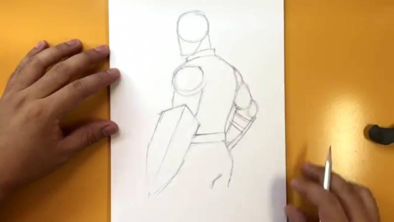 Как нарисовать Капитана Америку из Войны Бесконечности 7