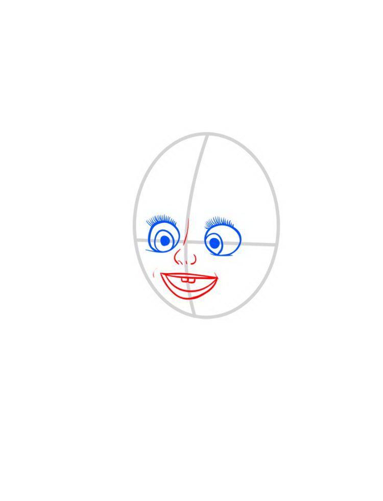 Как нарисовать Машу и мультика