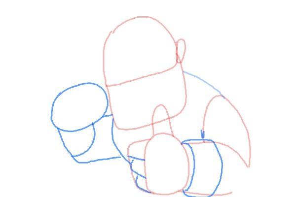 Как поэтапно нарисовать всадника на кабане3