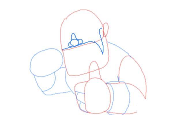 Как поэтапно нарисовать всадника на кабане4