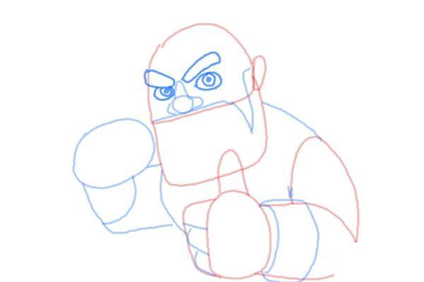 Как поэтапно нарисовать всадника на кабане5
