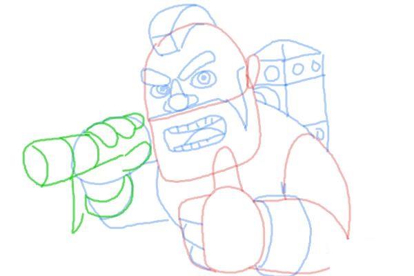 Как поэтапно нарисовать всадника на кабане8
