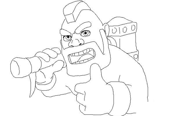 Как поэтапно нарисовать всадника на кабане9
