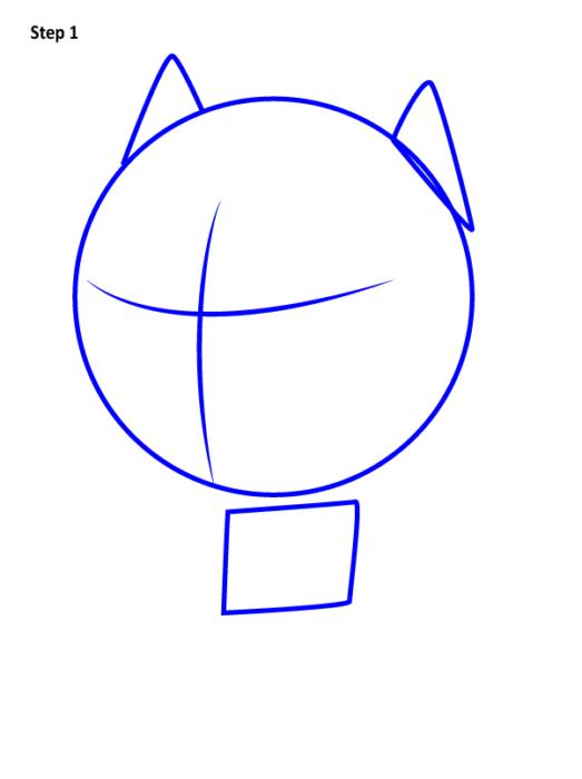 рисуем черную пантеру в стиле чиби 1