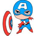 Как нарисовать чиби Капитана Америку