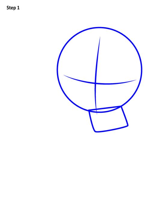 Как нарисовать чиби Капитана Америку 1