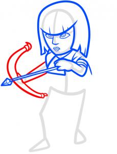 Как нарисовать Лучницу
