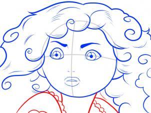 Как нарисовать принцессу Мериду