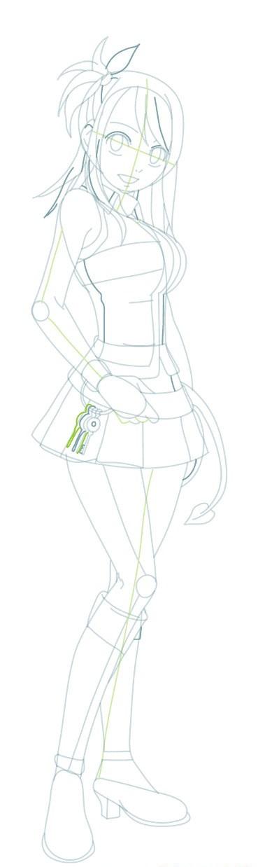 Как нарисовать Люси из Хвоста феи
