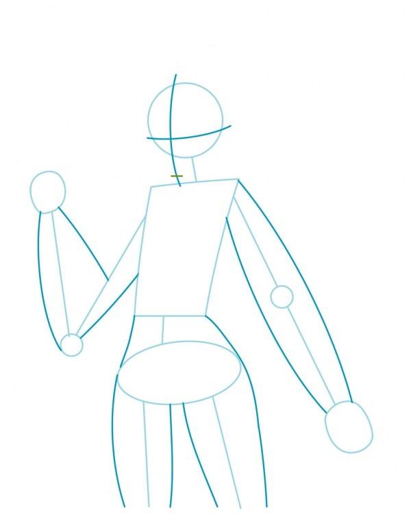 Как нарисовать Трейсер из Овервотч