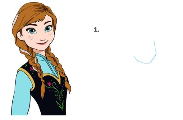 Как нарисовать Анну Эрендел 1