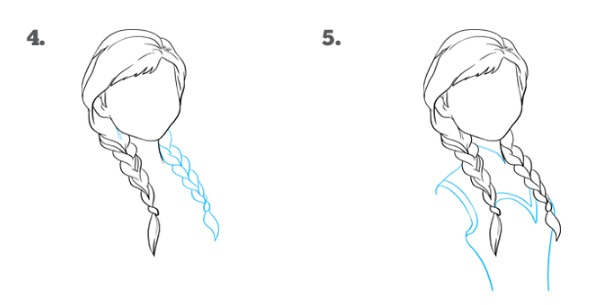 Как нарисовать Анну Эрендел 3