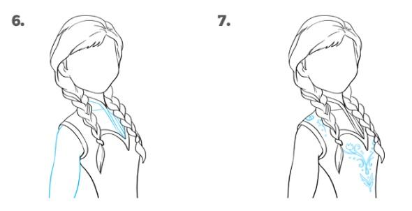 Как нарисовать Анну Эрендел 4