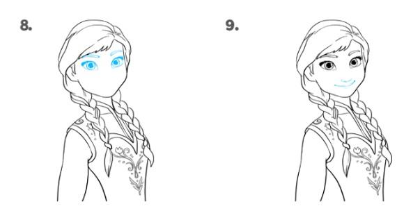 Как нарисовать Анну Эрендел 5