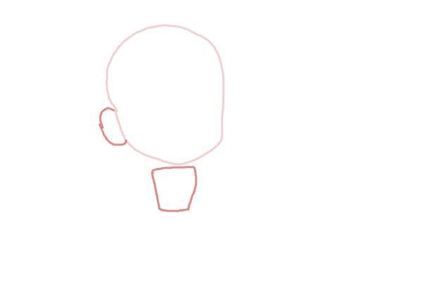 Рисуем чиби анна из мультика 2