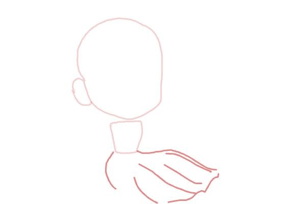 Рисуем чиби анна из мультика 3
