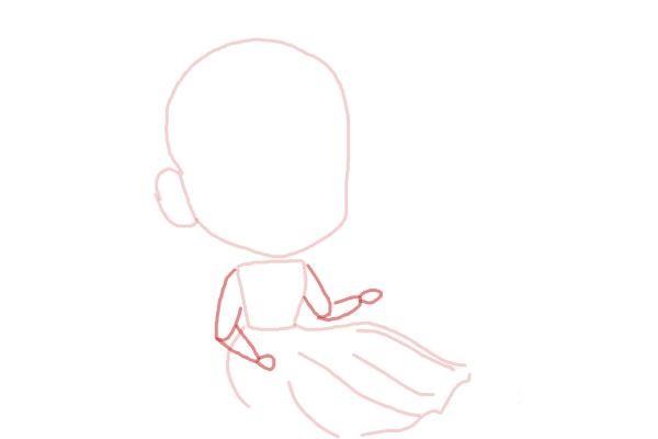 Рисуем чиби анна из мультика 4