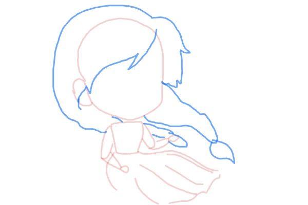 Рисуем чиби анна из мультика 5