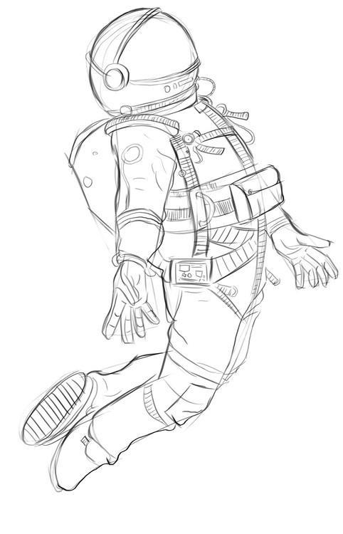 космонавт как нарисовать