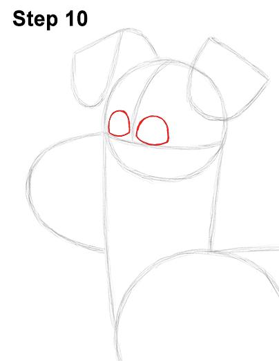 как нарисовать пса Макса