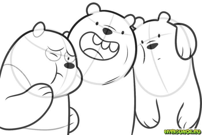 Мы обыкновенные медведи рисуем
