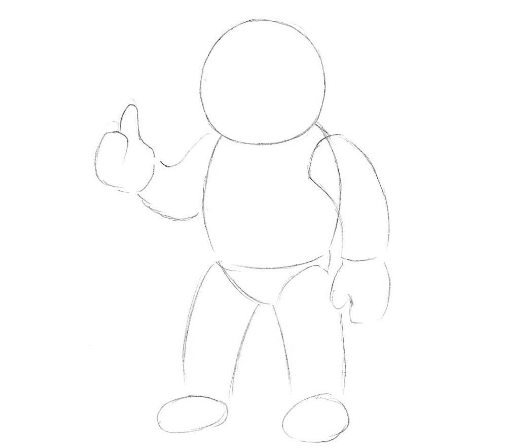 урок рисования космонавта3