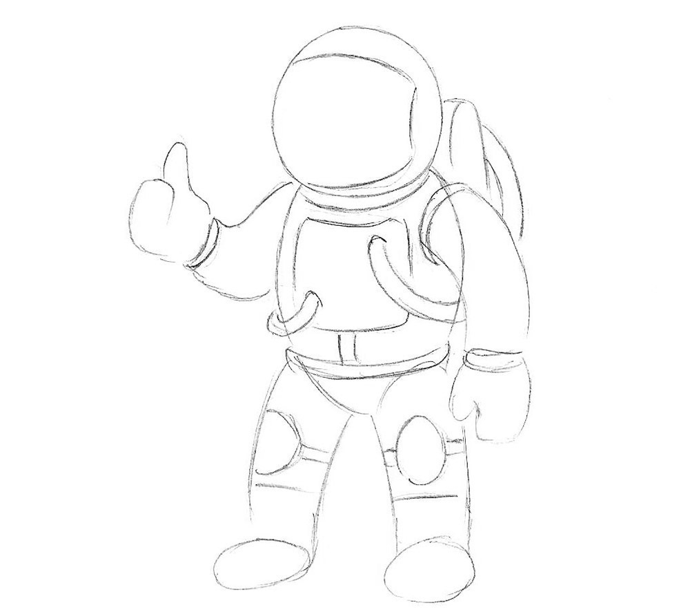 урок рисования космонавта4