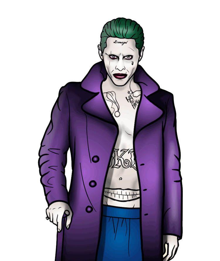 Джокер как нарисовать